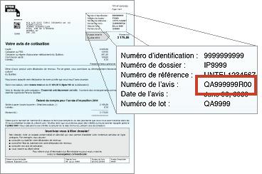 MRQ - Numéro d'avis de cotisation